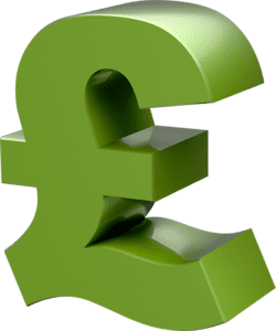 A pound sign which represents how costly occupational health services can be