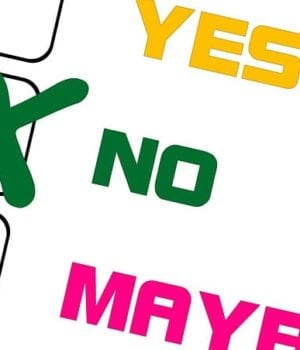 choice of first aider with a yes no or maybe card