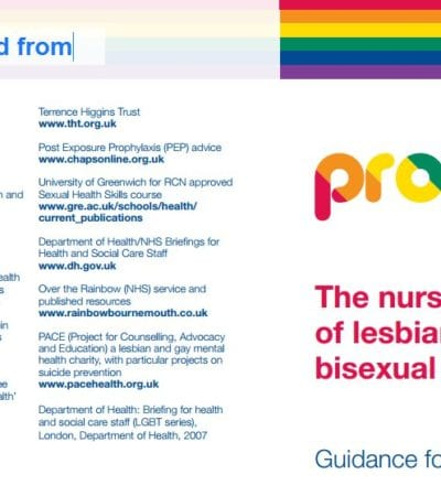 Image of LGB suicide toolkit for nurses