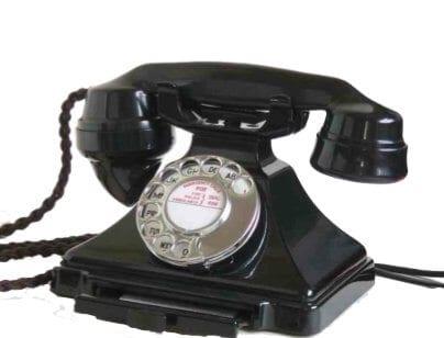 Telephone Consultations - image of black telephone