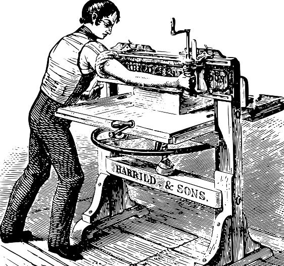 Old timer print run image