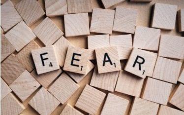 the words fear in scrabble letters
